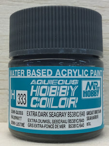 GUNZE MR HOBBY COLOR H333 SEMI GLOSS EXTRA DARK SEAGRAY BS381/640