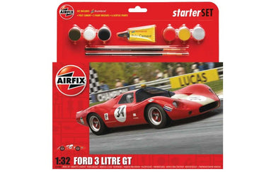 AIRFIX 1/32 FORD P68 3 LITRE GT 1968 STARTER SET (WITH PAINT & GLUE)