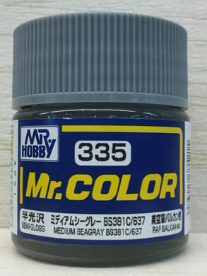 GUNZE MR COLOR C335 SEMI GLOSS MEDIUM SEAGRAY BS381C/637