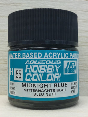 GUNZE MR HOBBY COLOR H55 GLOSS MIDNIGHT BLUE