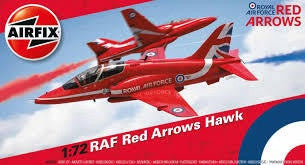 AIRFIX 1/72 RAF RED ARROWS HAWK