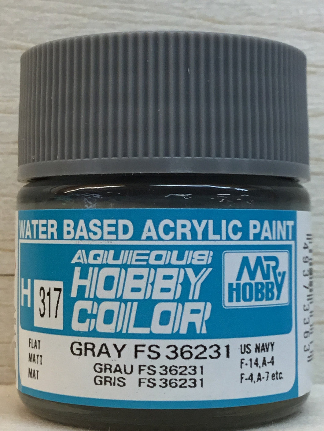 GUNZE MR HOBBY COLOR H317 FLAT GRAY FS36231