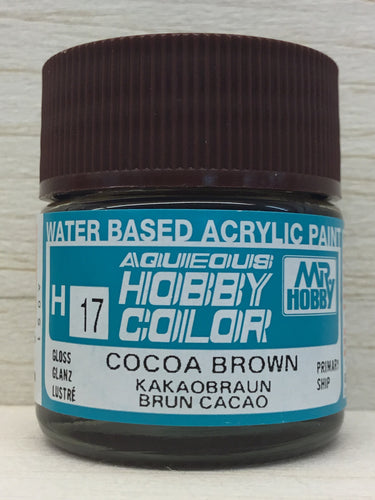 GUNZE HOBBY COLOR H17 GLOSS COCOA BROWN