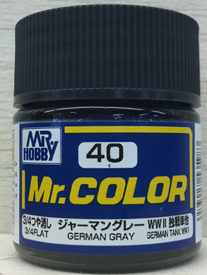 GUNZE MR COLOR C40 3/4 FLAT GERMAN GRAY