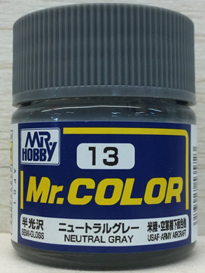 GUNZE MR COLOR C13 SEMI GLOSS NEUTRAL GRAY