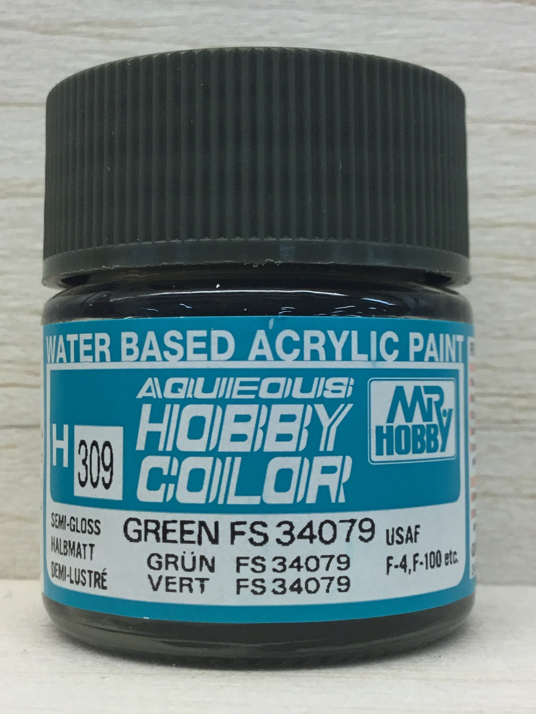 GUNZE MR HOBBY COLOR H309 SEMI GLOSS GREEN FS34079