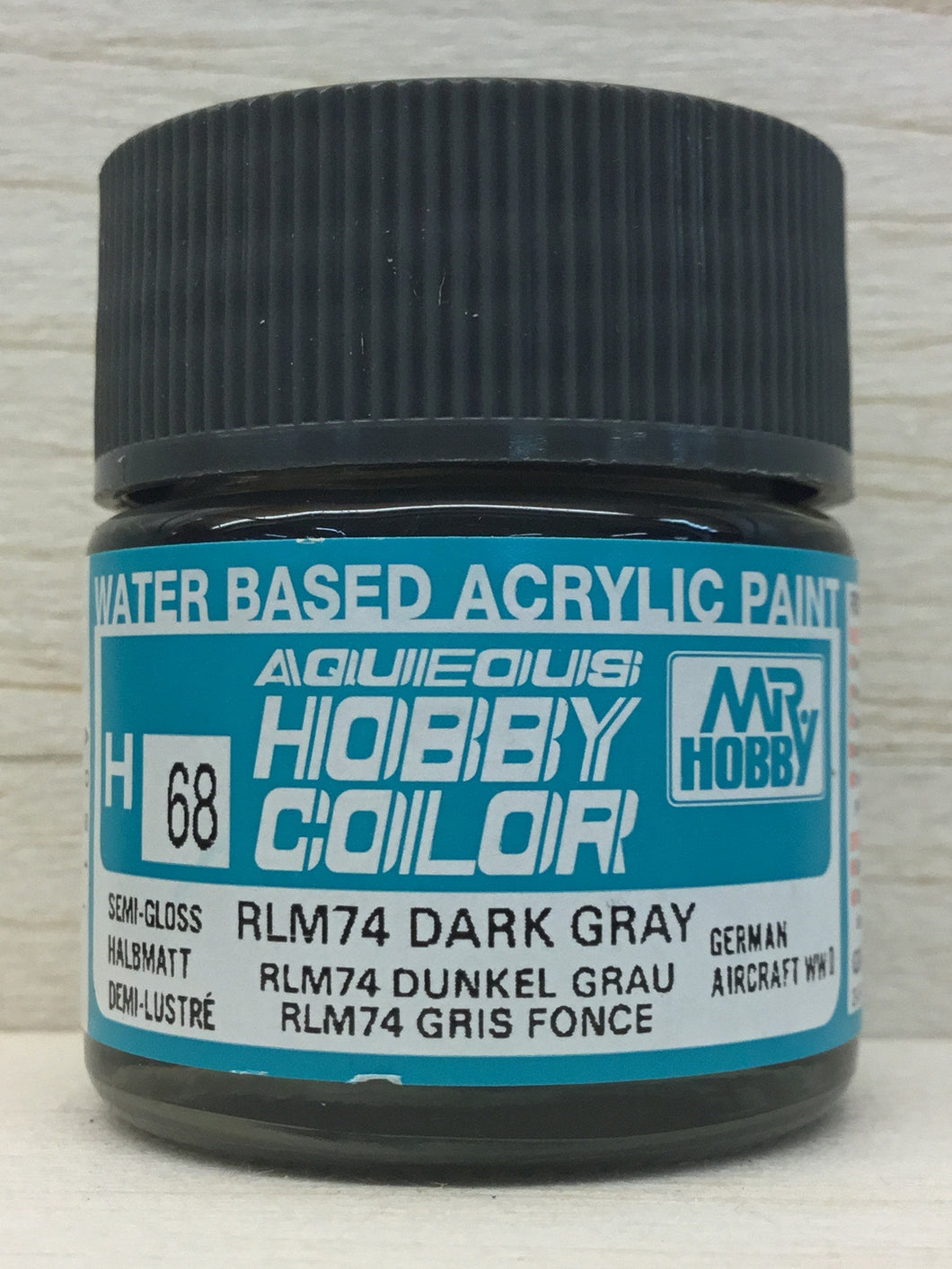 GUNZE MR HOBBY COLOR H68 SEMI GLOSS RLM 74 DARK GRAY