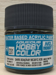 GUNZE MR HOBBY COLOR H331 SEMI GLOSS DARK SEAGRAY BS381C/638