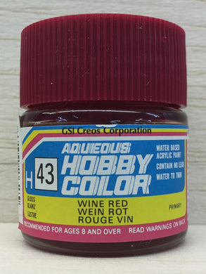 GUNZE MR HOBBY COLOR H43 GLOSS WINE RED