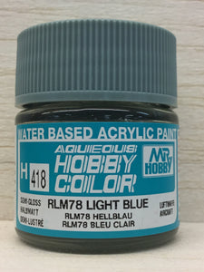 GUNZE HOBBY COLOR H418 SEMI GLOSS RLM 78 LIGHT BLUE