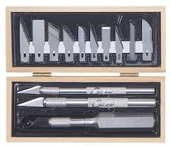 EXCEL CRAFTSMAN 3 KNIFE SET W/10 BLADES
