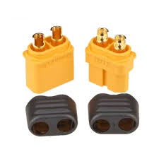 XT60 POWERPLUG 1 PAIR ( MALE + FEMALE WITH COVERS )