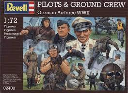 ITALERI 1/72 GREMAN PILOTS & GROUND CREW WW2