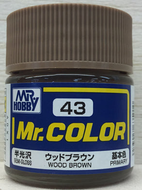 GUNZE MR COLOR C43 SEMI GLOSS WOOD BROWN