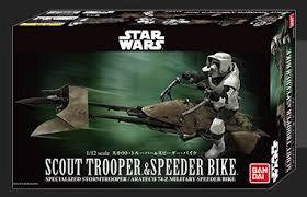 BANDAI STAR WARS SCOUT TROUPER & SPEEDER BIKE