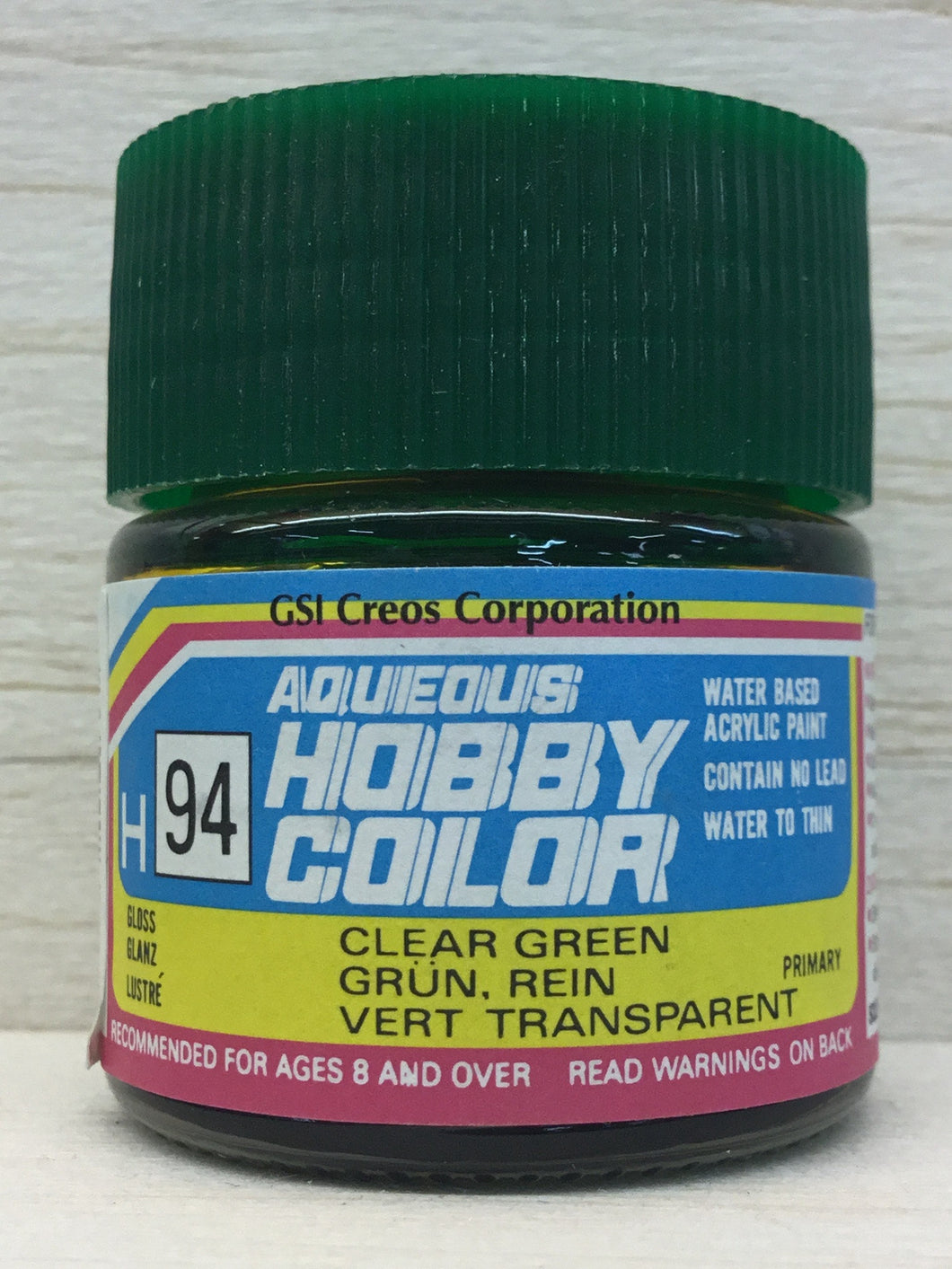 GUNZE HOBBY COLOR H94 GLOSS CLEAR GREEN