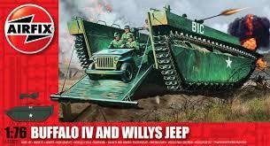 AIRFIX 1/72 BUFFALO AMPHIBIAN with JEEP