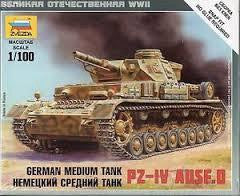 ZVEZDA 1/100 GERMAN MEDIUM TANK PZ IV AUSF.D