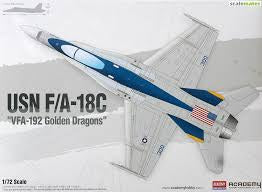 ACADEMY 1/72 USN F/A-18C VFA-192 GOLDEN DRAGONS