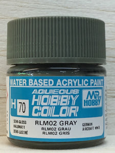GUNZE HOBBY COLOR H70 SEMI GLOSS RLM 02 GRAY