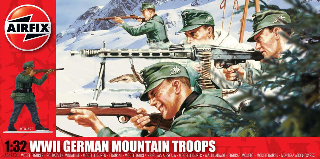 AIRFIX 1/32 WWII GERMAN MOUNTAIN TROOPS (x29)