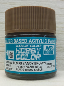 GUNZE MR HOBBY COLOR H66 SEMI GLOSS RLM 79 SANDY BROWN