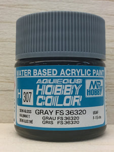 GUNZE MR HOBBY COLOR H307 SEMI GLOSS GRAY FS36320