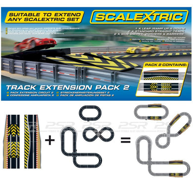 SCALEXTRIC TRACK EXTENSION PACK 2 LEAP/SIDE