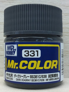 GUNZE MR COLOR C331 SEMI GLOSS DARK SEAGRAY BS381C/638