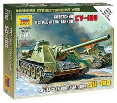 ZVEZDA 1/100 SOVIET SU-100 SELF PROPELLED GUN