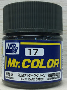 GUNZE MR COLOR C17 SEMI GLOSS RLM 71 DARK GREEN