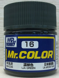 GUNZE MR COLOR C16 SEMI GLOSS IJA GREEN