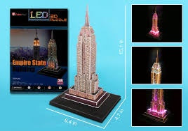 3D PUZZLE EMPIRE STATE BUILDING ( LED LIGHTS )