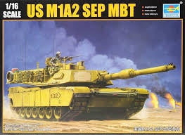 TRUMPETER 1/16 US M1A2 ABRAMS SEP MBT