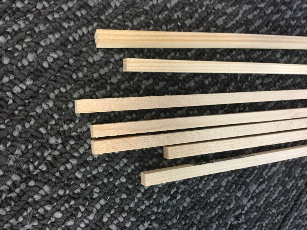 SPRUCE STICK 5MM SQUARE x 915mm LONG