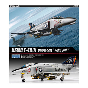 ACADEMY 1/48 USMCF-4B/N GREY GHOSTS