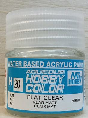 GUNZE MR HOBBY COLOR H20 FLAT CLEAR