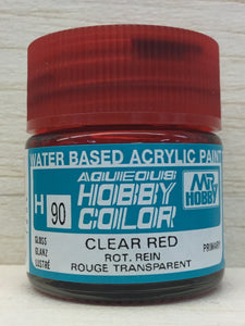 GUNZE MR HOBBY COLOR H90 GLOSS CLEAR RED