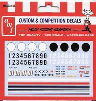 AMT 1/25 ROAD RACING DECALS