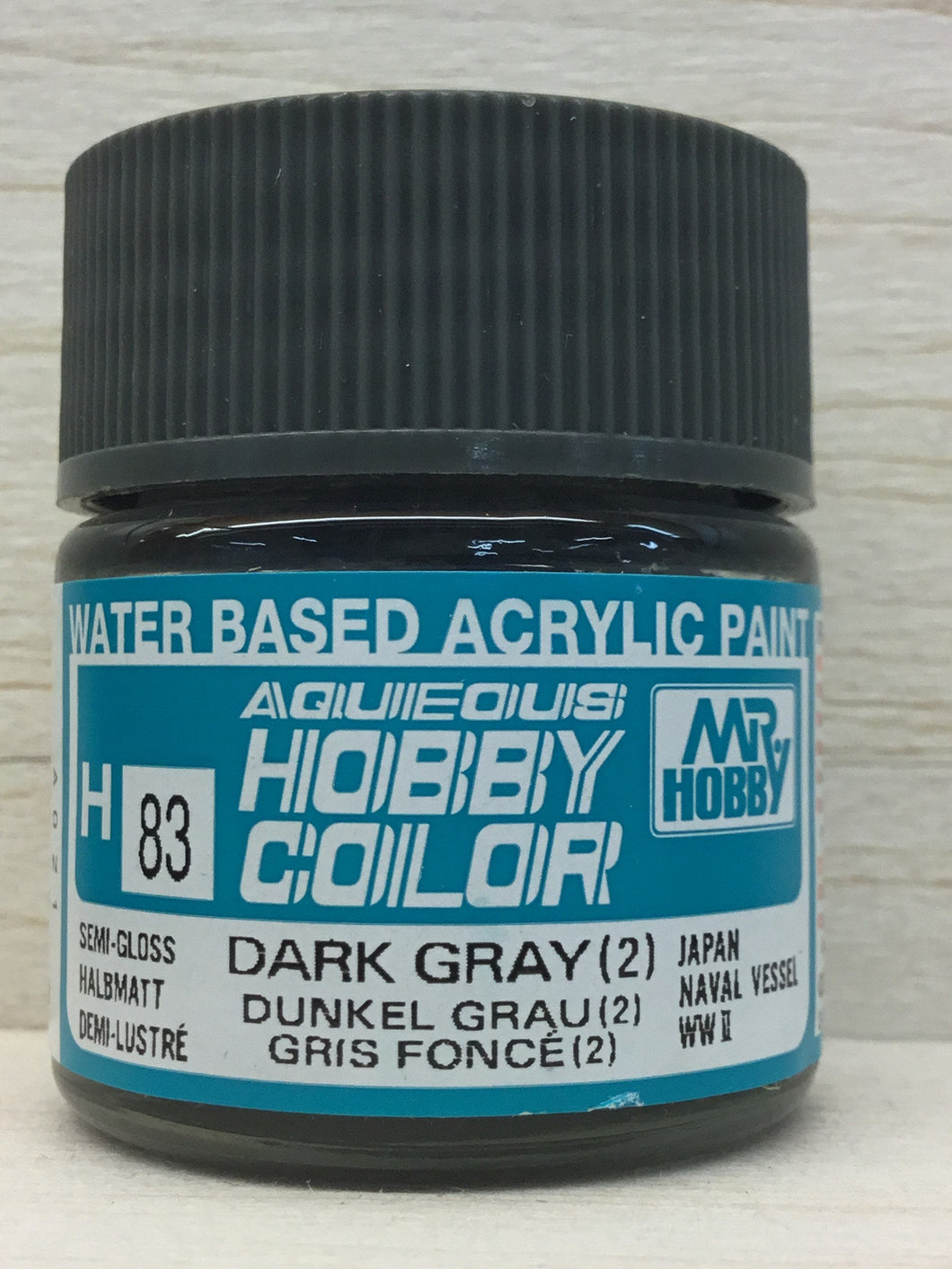 GUNZE MR HOBBY COLOR H83 SEMI GLOSS DARK GRAY 2