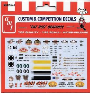 AMT 1/25 RAT ROD GRAPHIC DECALS