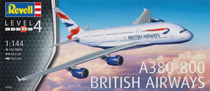 REVELL 1/144 BRITISH AIRWAYS AIRBUS A380-800