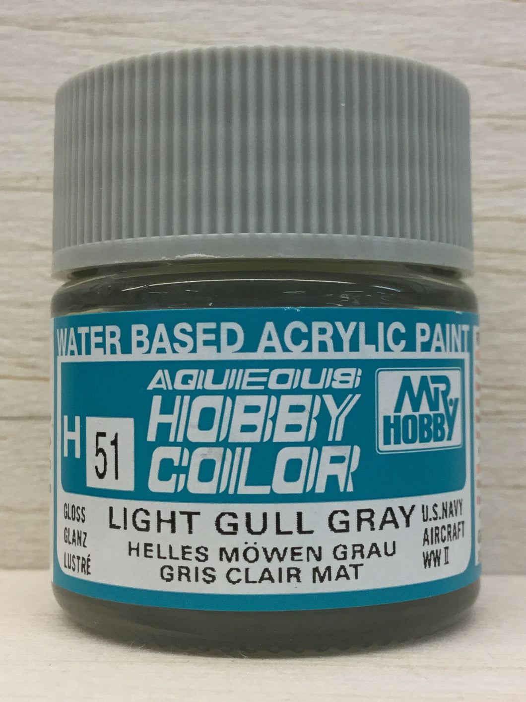 GUNZE MR HOBBY COLOR H51 GLOSS LIGHT GULL GRAY