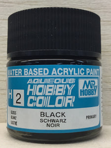 GUNZE MR HOBBY COLOR H2 GLOSS BLACK