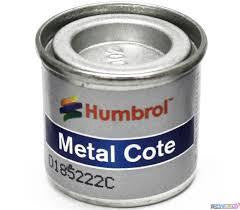 HUMBROL 14ml POLISHED ALUMINIUM METAL COTE ENAMEL 27002