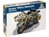 ITALERI 1/9 GERMAN MILITARY MOTORCYCLE WITH SIDECAR