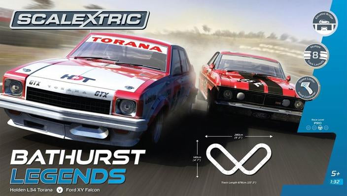 SCALEXTRIC SET BATHURST LEGENDS
