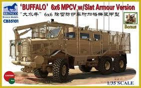 BRONCO 1/35 BUFFALO 6X6 MPCV W/SLAT ARMOUR