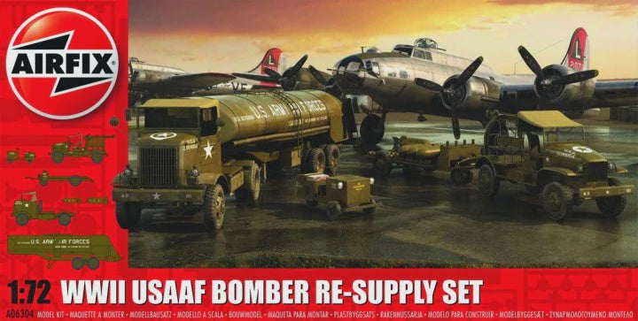AIRFIX 1/72 WWII USAAF BOMBER RE-SUPPLY SET