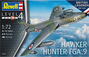 REVELL 1/72 HAWKER HUNTER FGA.9